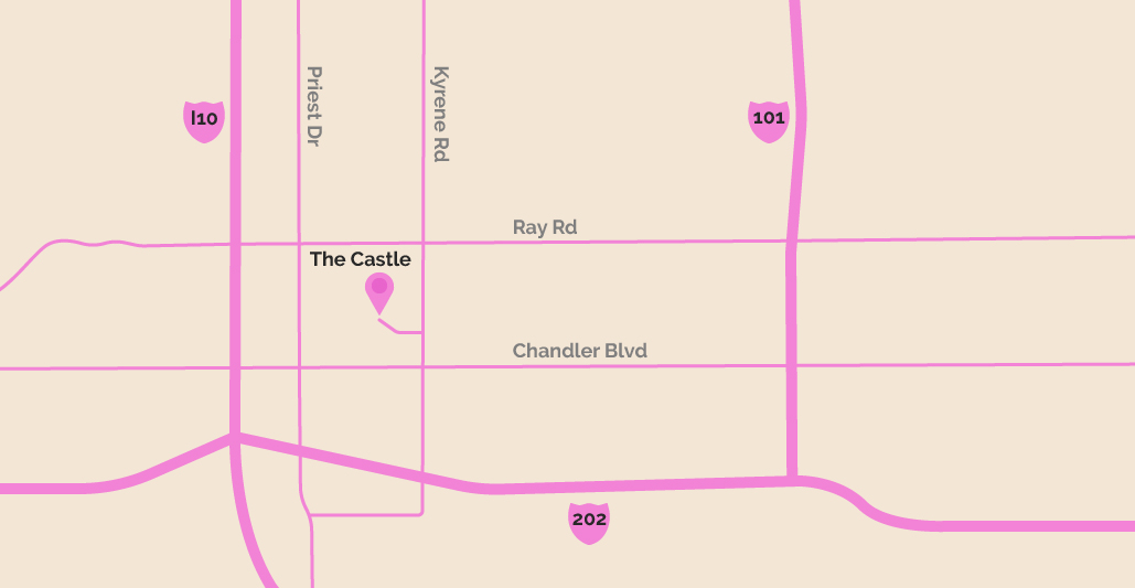 map image showing the cinderella affair location
